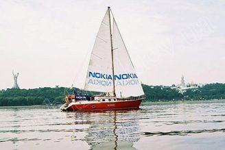 Парусная яхта Норд на реке Днепр