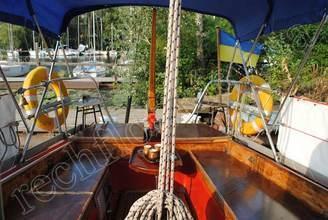 На кокпите парусной яхты Риф