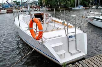 Транец яхты Алина
