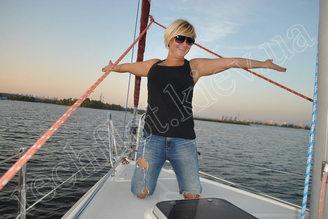 Вид с яхты Богема на Киев