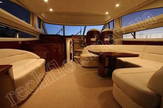 Салон на 8 гостей моторной яхты Принцесс-50