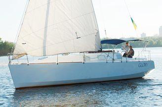 Внешний вид парусной яхты Глория