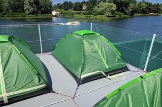 Палатки на теплоходе Релакс