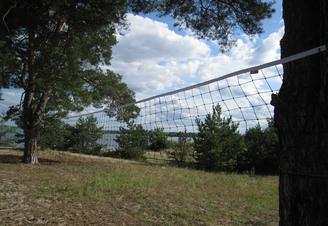 Волейбольное поле на острове