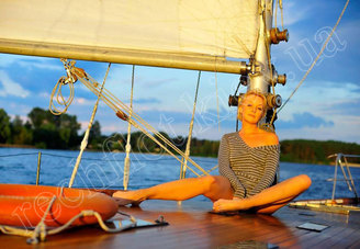 Фотосессия на палубе парусной яхты Электра