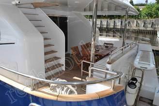 На корме моторной яхты Натали