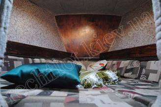 Кровать в каюте парусной яхты Риф
