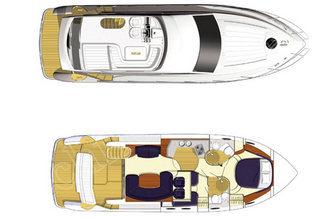 План моторной яхты Принцесс-45