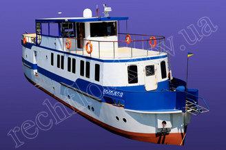 Внешний вид моторной яхты Соломия