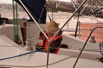 Кокпит парусной яхты Диамант