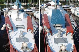 На носовой части парусной яхты Норд