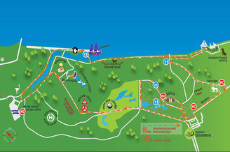 Карта Межигорского парка