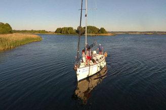 На парусной яхте в турпоходе Salo-Мандры