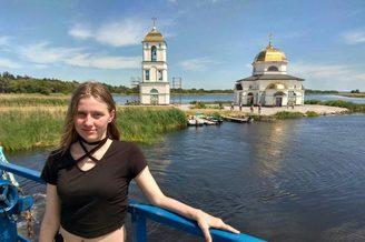 Полузатопленная Спасо-Приображенская церковь в турпоходе, фото 1