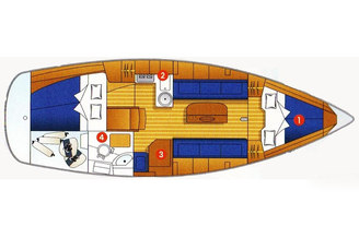 Схема парусной яхты Бавария-33 Александер