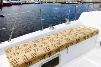 Сиденье на корме яхты Глория