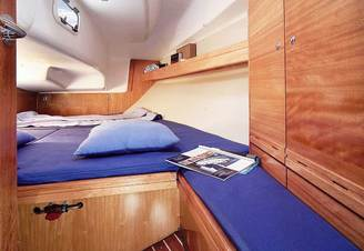 Кормовая каюта парусной яхты Бавария-33 Александер