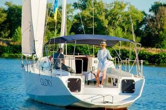 Кормовая часть на парусной яхте Глория