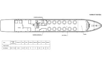 Схема теплохода Lux лайнер - нижняя палуба