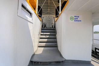 Лестница с нижней палубы теплохода Говерла